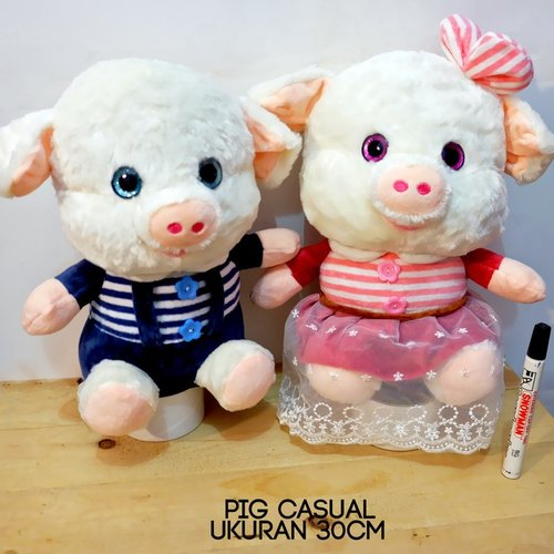 Boneka Pig Casual Stripe