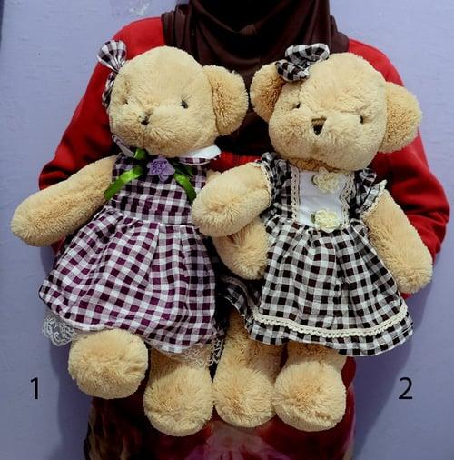 Boneka Teddy Bear Dress Handmade