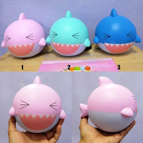 Squishy Jumbo Baby Shark Pink/Blue