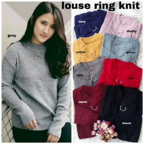 [Louse Ring knit RO] sweater wanita rajut var color