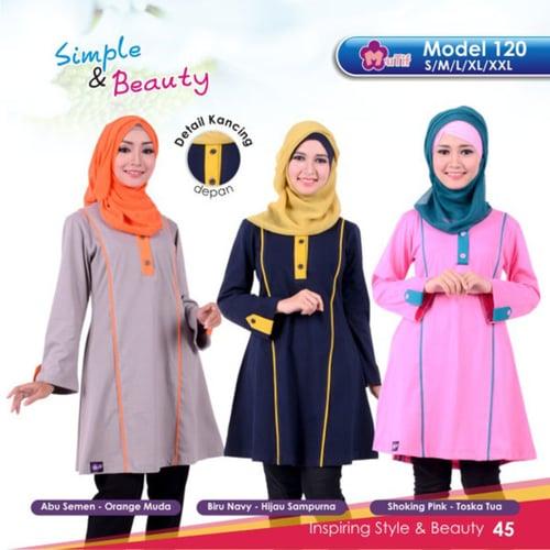 Baju Muslimah Atasan Bahan Kaos Murah / Mutif 120