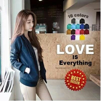 Basic Jacket Hoodie UNISEX murah with Zipper Jaket cowok cewek