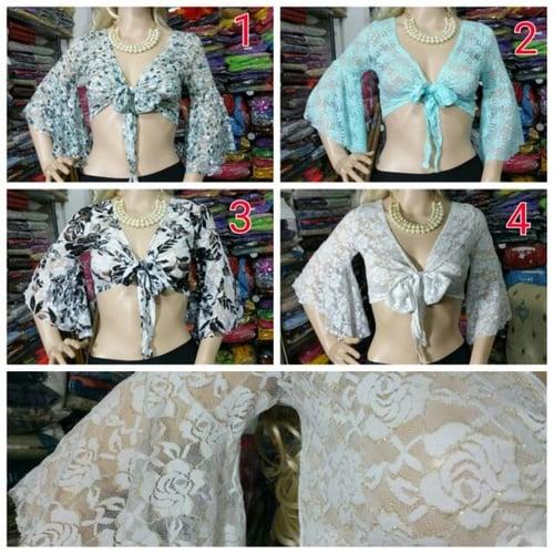 belly dance top / atasan / baju brukat motif bunga