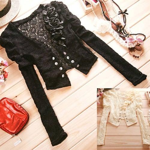 Cardigan Bolero Brukat Lace Bunga Baju Import Murah (AF J 06)
