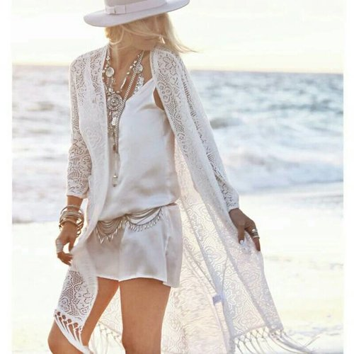 Cardigan lace pantai / pelindung matahari / cover baju renang bikini