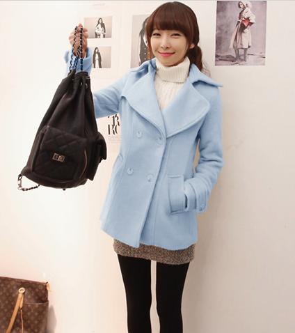 coat tebal musim dingin korea atasan wool winter blazer outer Jaket & Blazer
