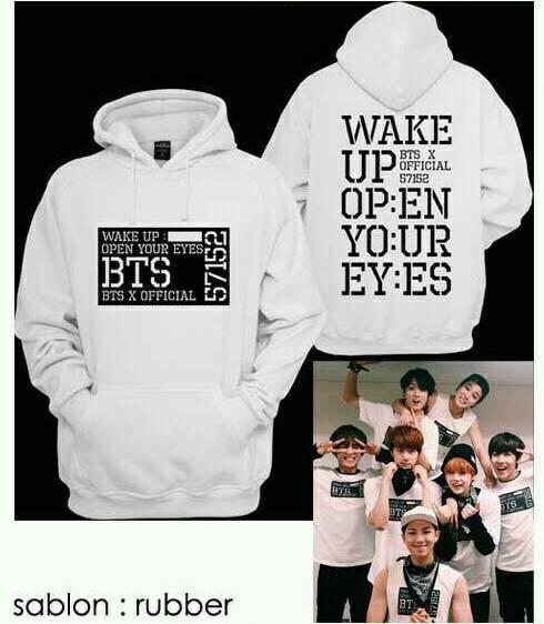Jaket Hoodie BTS Wake Up