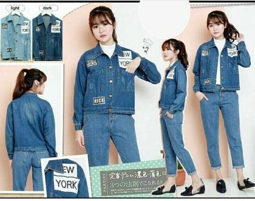 Jaket jeans Patch New York