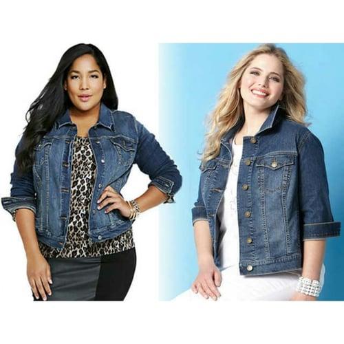 Jaket jeans wanita jumbo levis big size