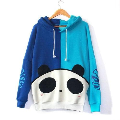 Jaket Panda Sweater Blue MALE FEMALE SIZE