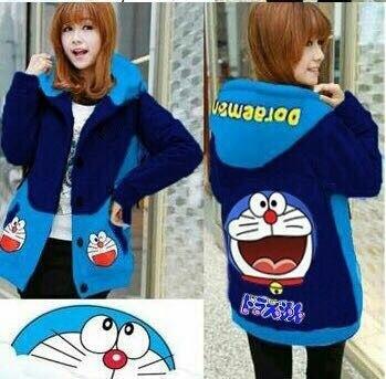Jaket Sweater Wanita Doraemon hahaha