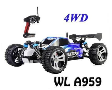 Rc Mobil Remote Wl A959 Vortex 1/18 4wd 2.4ghz Rtr 50km/Jam