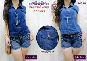 rompi jeans polos fit xL