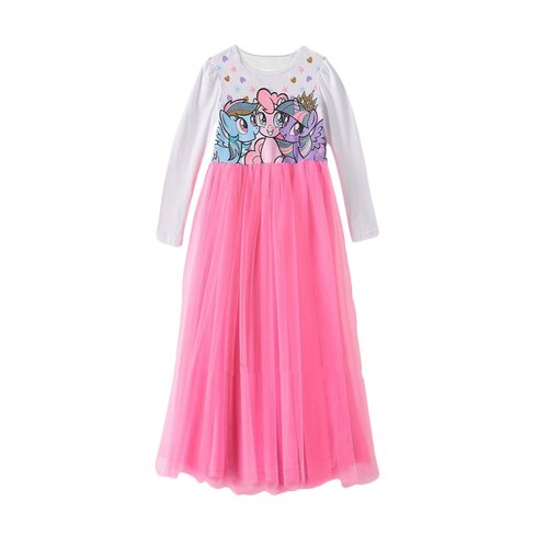 Flower Kids Long Pony Friends Dress Anak