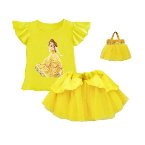 Lil Rose Stelan Princes Plus Bag Set Pakaian Anak - Yellow