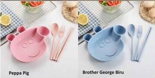 GBS Peppa Pig Set Piring Makan Anak