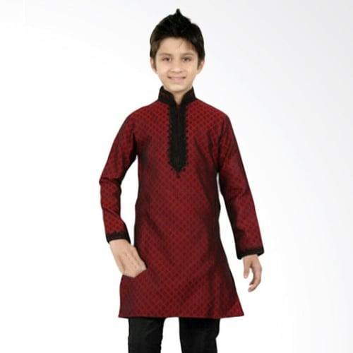 GBS.Sens Embordiery Jeans Setelan Pakaian Koko Anak - Red Black Large