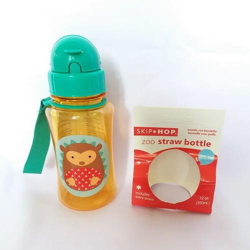 Skip Hop Zoo Straw Landak Botol Minum - Orange [350 mL]