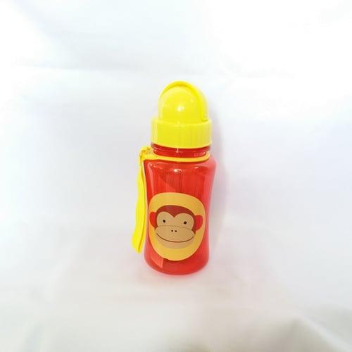 Skip Hop Zoo Straw Monkey Botol Minum - Red [350 mL]