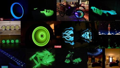 Cat fosfor 1Liter Solventbase Polyurethane  glow in the dark untuk safety dan otomotif