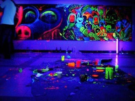 Cat glow in the dark full color UV paint 200ml
