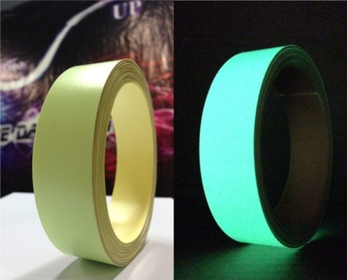 Sticker fosfor 2,5cmx10m glow in the dark tape for safety