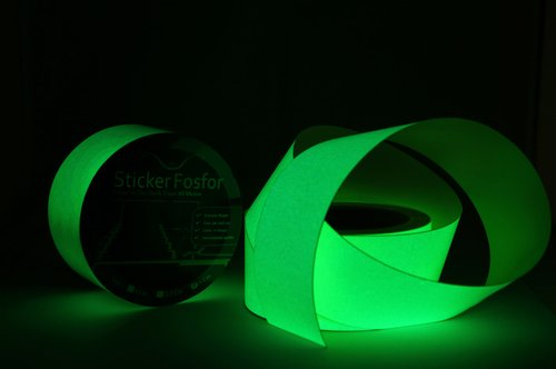 Sticker fosfor 5cmx10m glow in the dark tape for safety