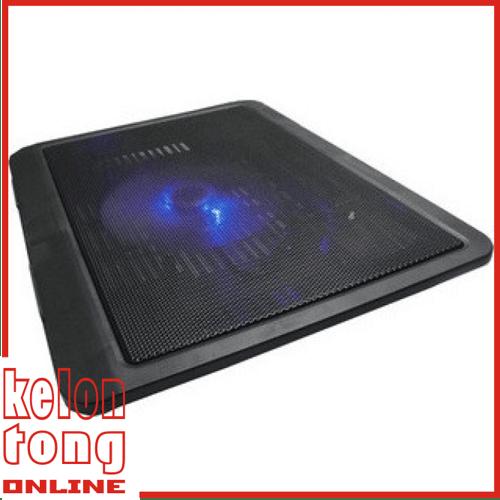 Notebook Cooler Pad Ultra Thin Computer Radiator Cooling Base - Hitam