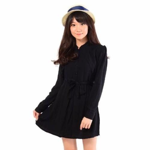 [Dress Riyanti Hitam SW] dress wanita rayon bangkok hitam