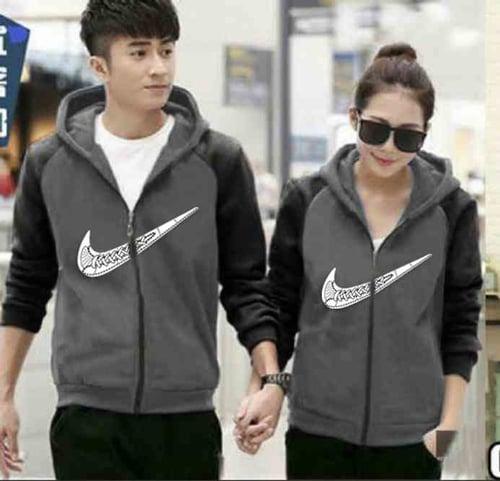 [S33 Couple Kimono Nike Abu-Hitam LO] Jaket couple babyterry hitam