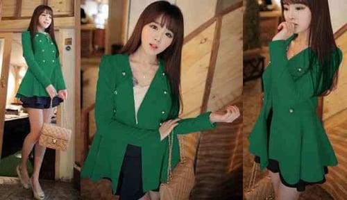 [Zariva Green LT] coat wanita babyterry hijau