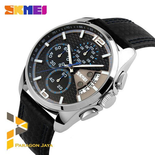 SKMEI Men Watch Ori Water Resistant 9106 Black Blue