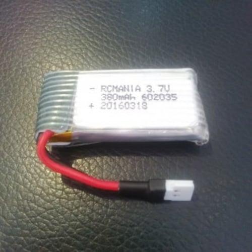 RCmania 380mah Lipo 3,7v 1s for mini Quad H107 X6 310B jakartahobby