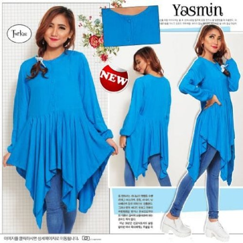TERLARIS!![Atasan Yasmin SW] blouse wanita rayon bangkok turkish