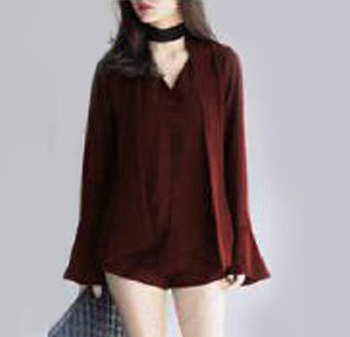TERLARIS!![Blouse Nony Maroon SW] blouse wanita rayon bangkok maroon