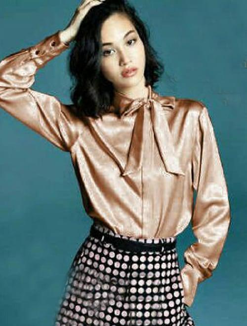 TERLARIS!![Blouse Tifany Cream SW] blouse wanita saten velvet cream