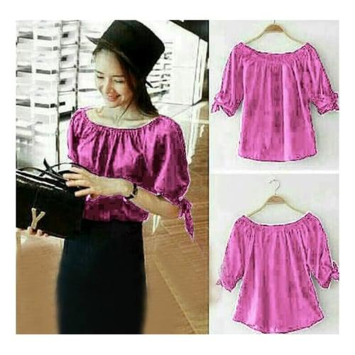 TERLARIS!![Blouse Yuzi Pink SW] blouse wanita rayon bangkok fanta