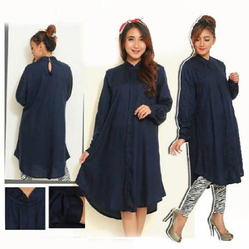 TERLARIS!![Dress Sandi Navy SW] dress wanita rayon bangkok navy
