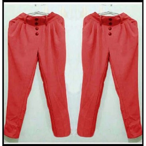 TERLARIS!![Pants Aurel Merah SW] celana wanita ballotieli merah