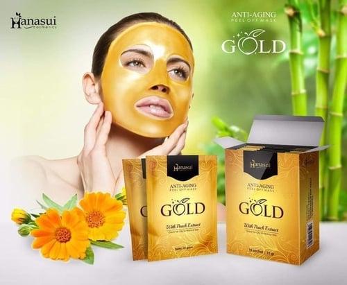 HANASUI Peel Off Mask Gold Peach Anti Aging