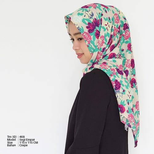Jilbab Motif Segiempat Tm-468
