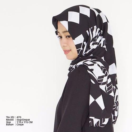 Hijab Motif Segiempat Tm-470