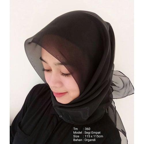 Jilbab Segi Empat Organza