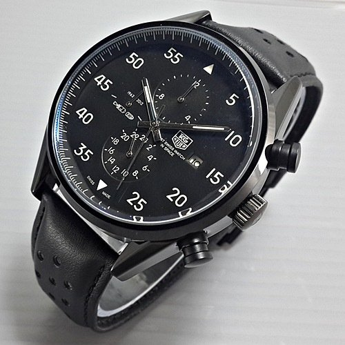 TAG HEUER Jam tangan Space Leather Full Black