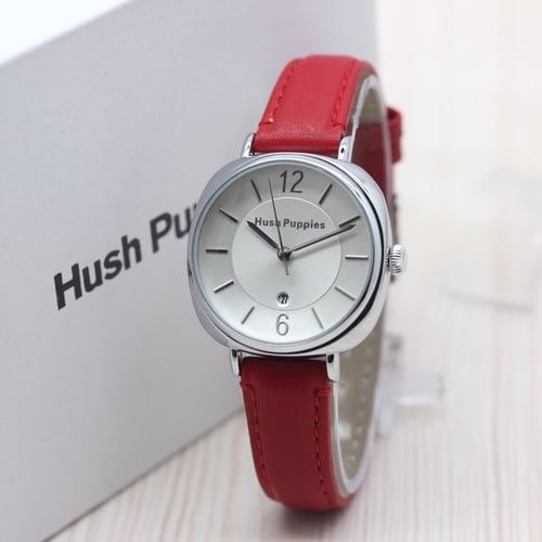 HUSH PUPPIES Jam Tangan Wanita Leather Red Silver