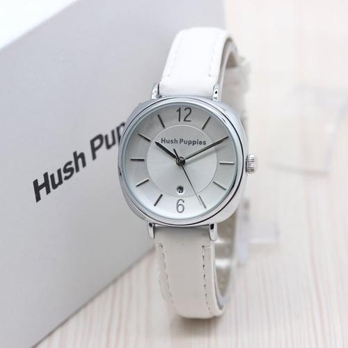 HUSH PUPPIES Jam Tangan Wanita Leather White Silver