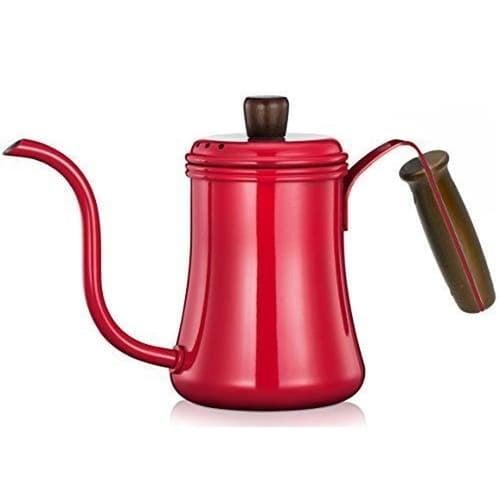 Diguo Kettle Gooseneck Teko Leher Angsa Coffee Pot DG-15A 700mL Red