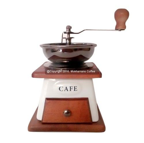 Mokhamano Ceramic Coffee & Spice Grinder Manual Motif Kincir Holand