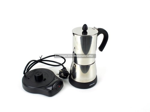 Espresso Coffee/Teko Kopi/Akebonno Moka Pot Elektik Stainless 8 Cup