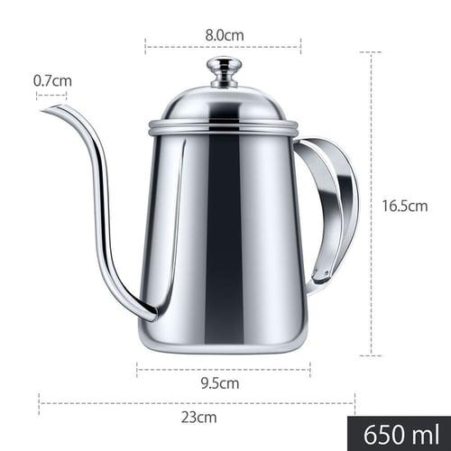 Kettle Gooseneck/Teko Leher Angsa/Pour Over Drip Kettle-RoseGold 650mL